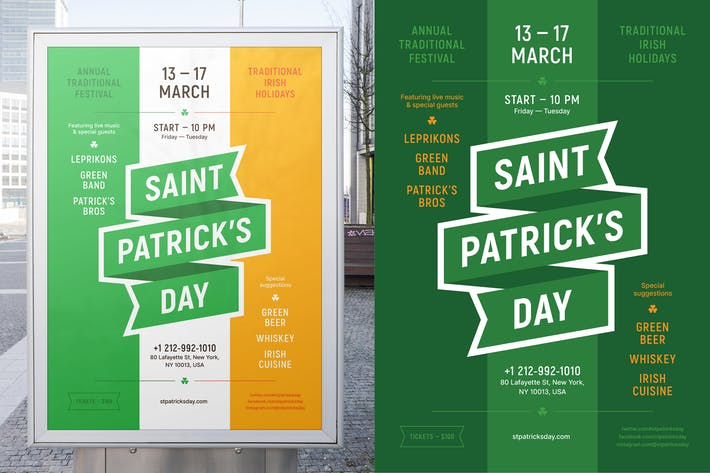 Modèle d'affiche de fête St. Patrick