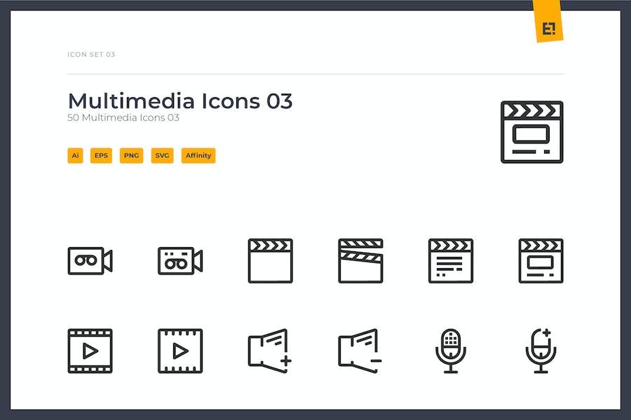 Icono - Conjunto de iconos multimedia 03