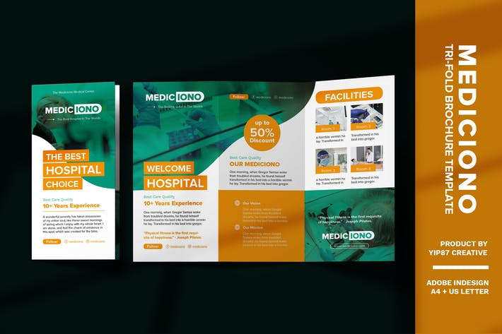 Thumbnail for Clinic Medical - Hospital Trifold Brochure