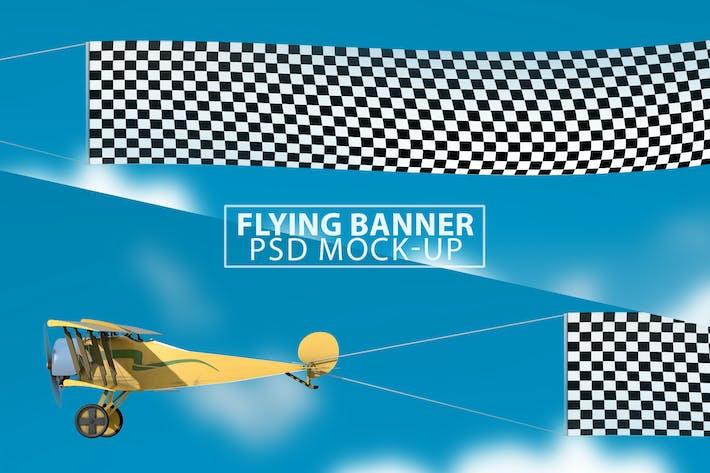 Thumbnail for Flying Banner PSD Mock-up