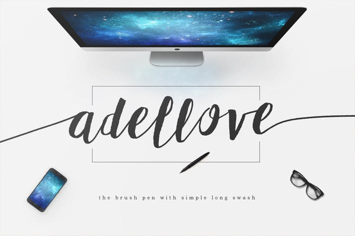 Thumbnail for Adellove Typeface