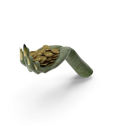 Creature Hand Handful with Gold Coins