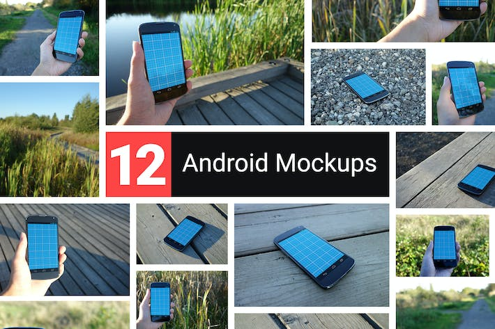 Thumbnail for 12 Realistic Android Mockups