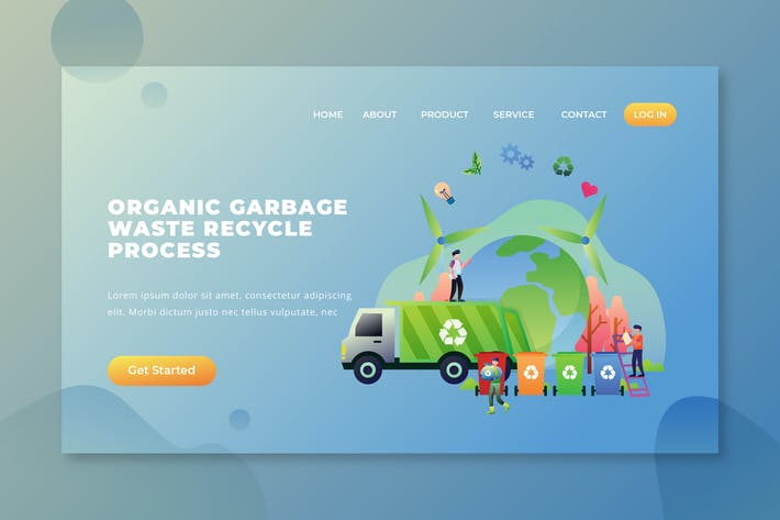 Thumbnail for Organic Garbage Waste Recycle Process - PSD AI Web