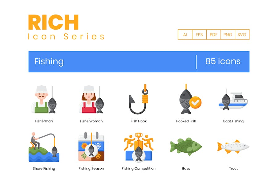 85 Angeln-Icons - Rich Serie