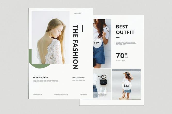 Thumbnail for Modèle Minimal Fashion Flyer