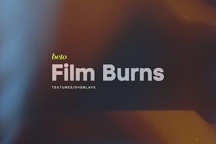 Superposiciones de quemaduras de película
