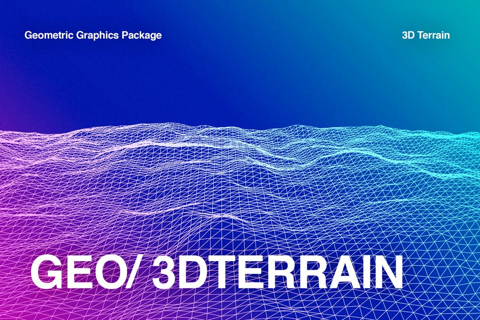Download Geometric 3D Terrain Package by codetoform