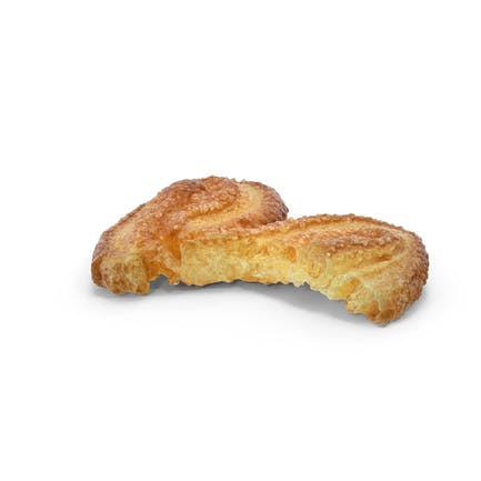 Französisch Palmiers Cookie Gebissen