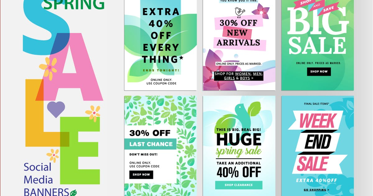 Download Spring sale banners by PureSolution