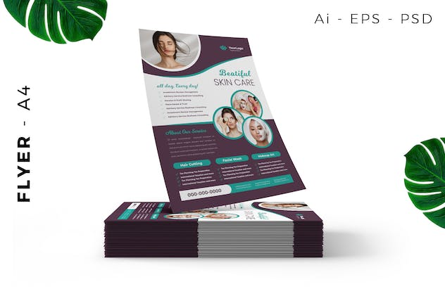 Spa / Skin Care flyer - product preview 3