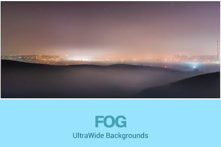 UltraWide City and Fog Backgrounds Set