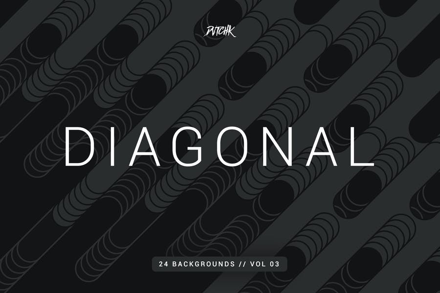 Diagonal | Rounded Lines Backgrounds | Vol. 03