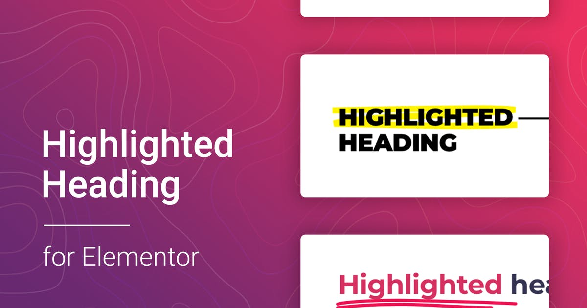 Download Highlighted headings for Elementor by merkulove