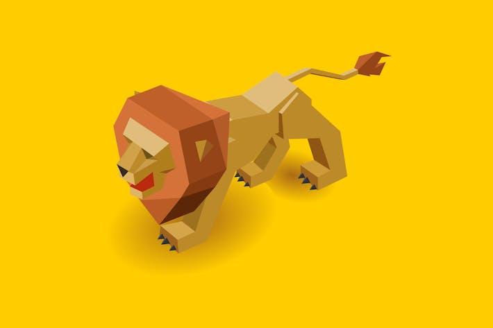 Thumbnail for Isometrischer Löwe