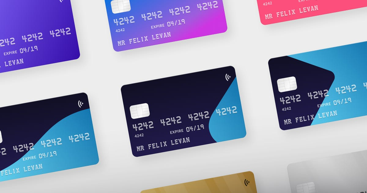 Download Credit Card Mockups by uiuxassets