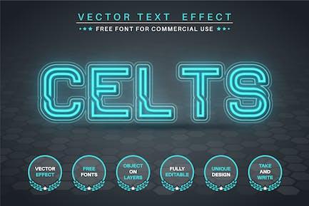Celts - editable text effect, font style