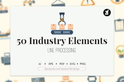 50 Отраслевые элементы в плоской конструкции