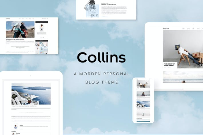Thumbnail for Collins - Minimalist & Personal Blog PSD Template