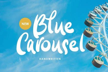 Blue Carousel - Handwritten Font