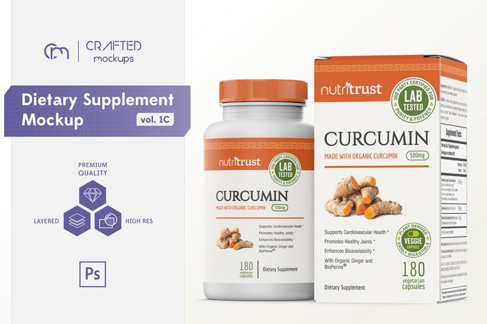 Thumbnail for Dietary Supplement Mockup v. 1C