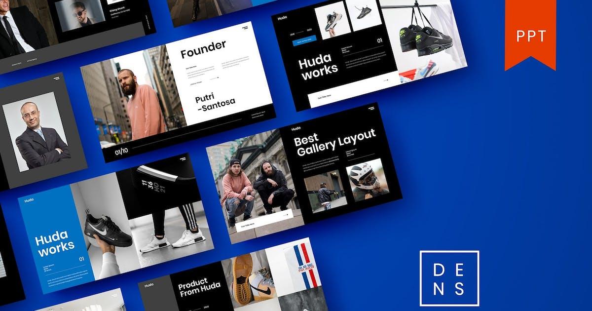 Huda – Business PowerPoint Template by DensCreativeStudio