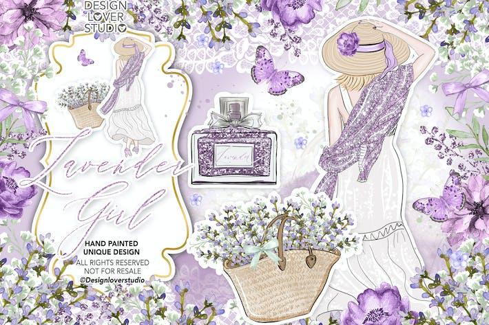 Thumbnail for Lavendel-Mädchen-Design