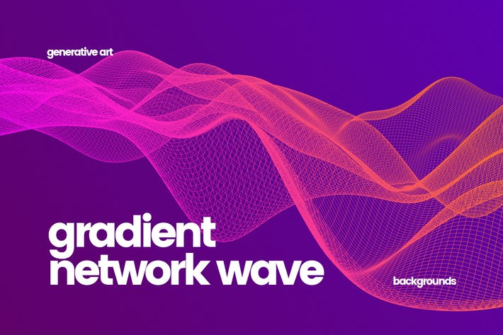 Thumbnail for Gradient Network Wave Backgrounds
