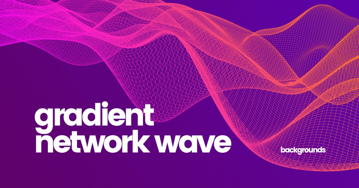 Download Gradient Network Wave Backgrounds by themefire