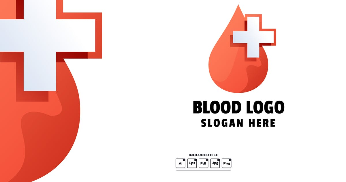 Download Blood Medical Gradient Colorful Logo Template by yuanesei