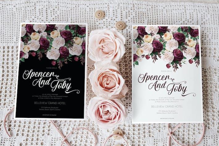 Vintage Rose Floral Wedding Suite