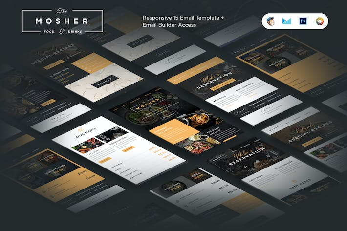 Thumbnail for Mosher Restaurant Email Template