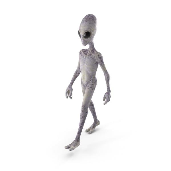 Humanoid Alien Walking Pose