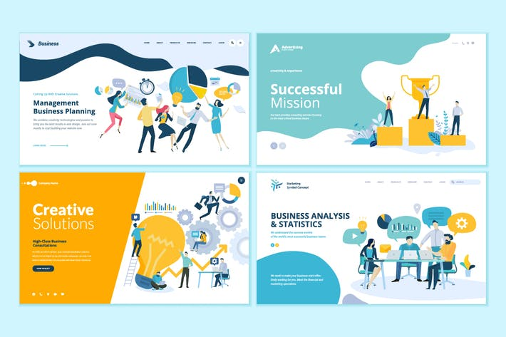Thumbnail for Business Web Design Templates