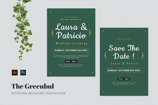 Greenbul Wedding Invitation
