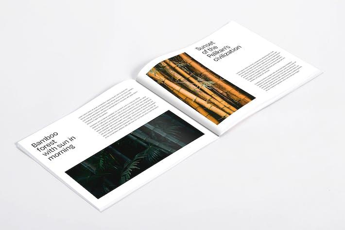 Thumbnail for Horizontaler US-Katalog Mockup