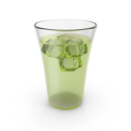 Glas-Limonade mit Eis