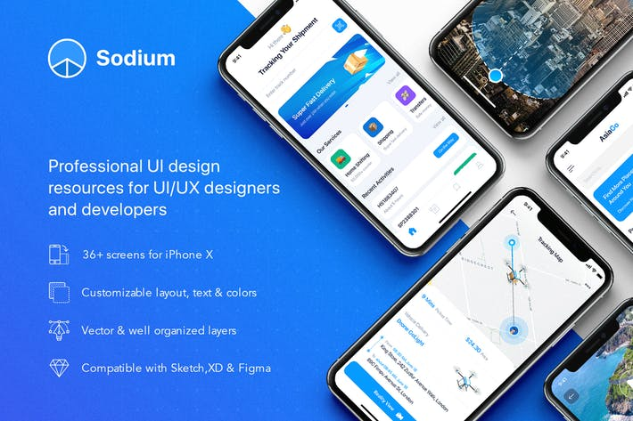 Thumbnail for Sodium mobile UI Kit