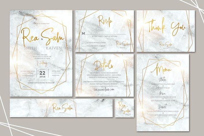 1543 Layered Wedding Invitations Print Templates And UX UI
