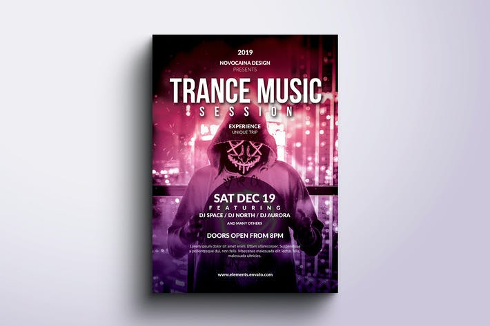 Thumbnail for Trance Music Event Flyer & Poster