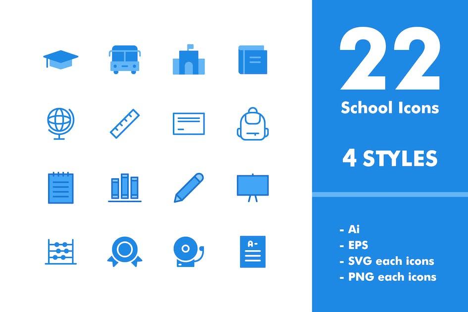 Download School Icon Set by deemakdaksinas
