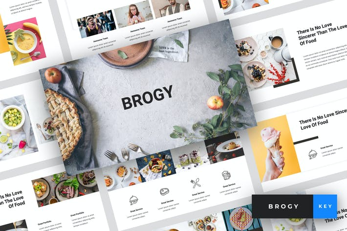 Thumbnail for Brogy - Food & Beverages Keynote Template