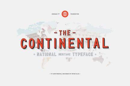 TF Continental Display Font