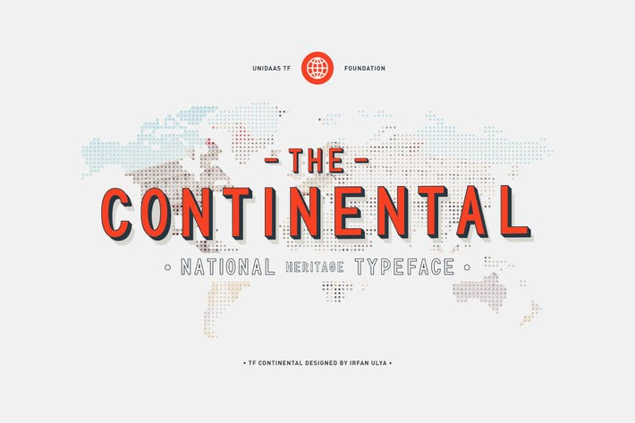 Cover Image For TF Continental Display Font
