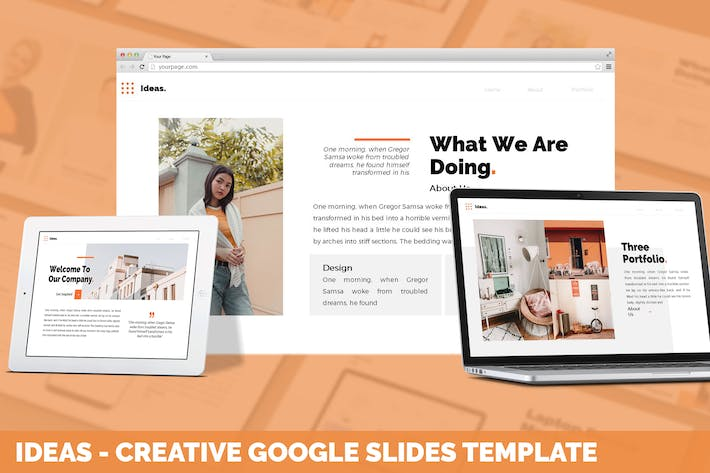 Thumbnail for Ideas - Creative Google Slides Template