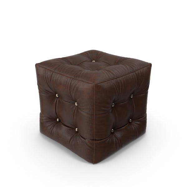 Thumbnail for Leather Pouf