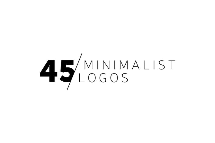 Cover Image For 45 Minimalist Logos