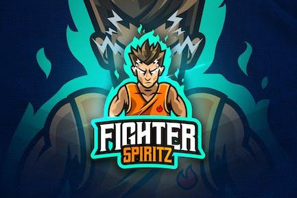 Fighter Spirit - Mascot & Esport Logo