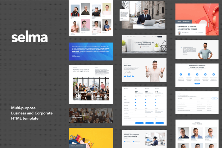 Thumbnail for Selma - Business & Corporate HTML Templates