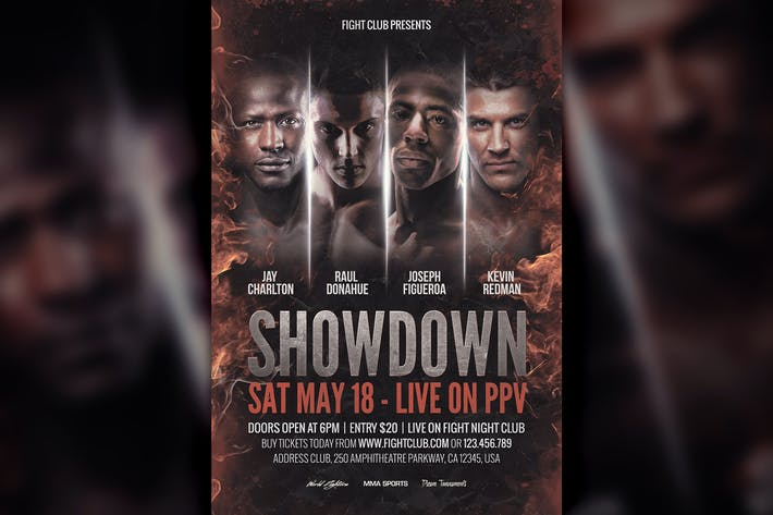 Showdown Fight Night PSD Flyer Template by HyperPix on Envato Elements